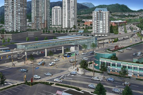 Artist rendering of Evergreen Line's Lincoln Station
