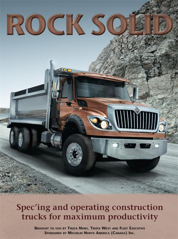 Rock Solid features articles on spec'ing for dump trucks and vocational trucks, getting the most out of your construction trucking fleet and the Construction Truck Rundown.