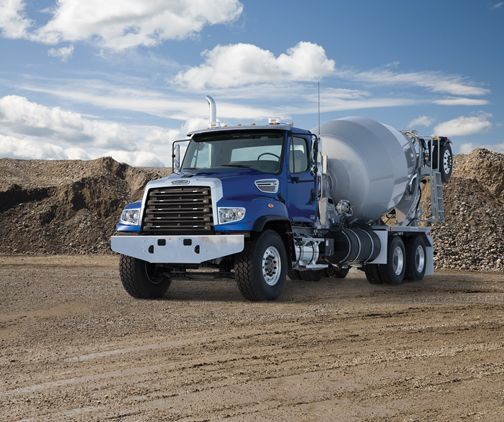 One of Freightliner's latest mixers