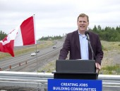 Minister of Foreign Affairs John Baird was on hand to mark the recent completion of the $68.2-million Highway 69 widening and realignment project. Photo: Transport Canada.