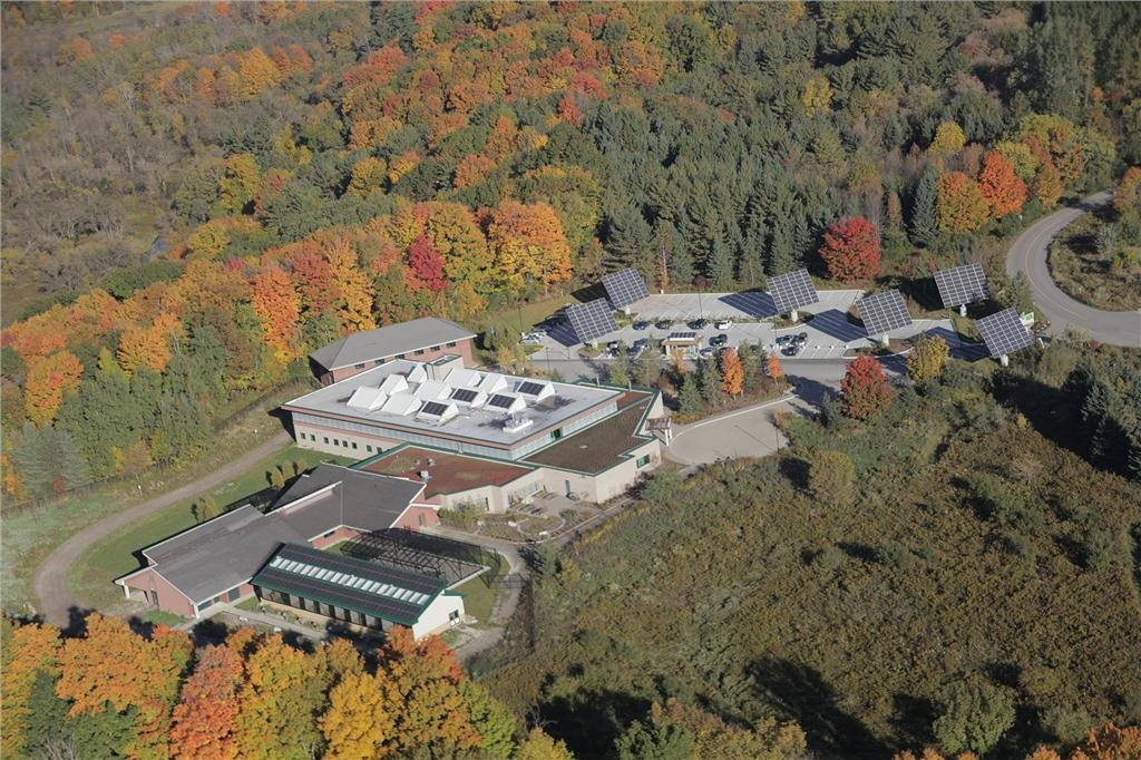Aerial view of the Earth Rangers Centre. Photo courtesy of Earth Rangers.
