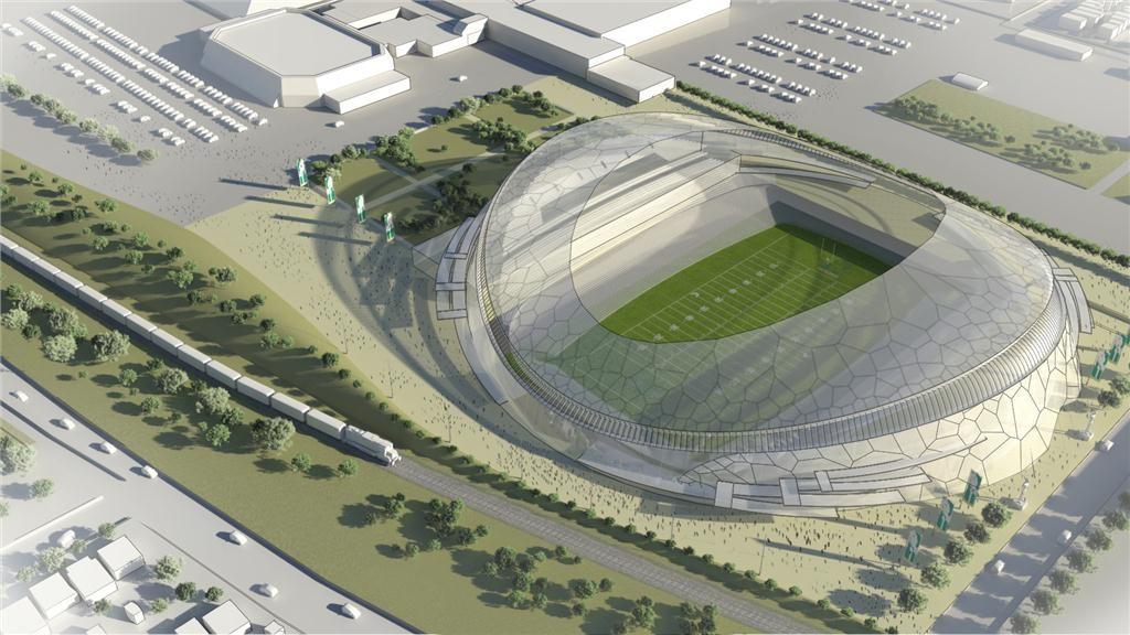 Mott MacDonald's concept design for a new 33,000-seat stadium in Regina.