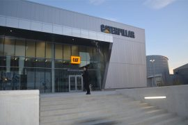 The Caterpillar Welcome Center is set to open on Oct. 20, 2012. Staff photo.