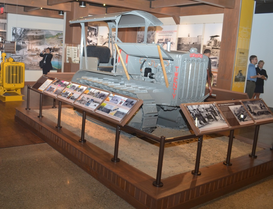 Guests at the Caterpillar Welcome Center will have a chance to learn all about Caterpillar's long history and check out a restored, antique Caterpillar Model Twenty Tractor - the first tractor model created after the formation of Caterpillar in 1925. Staff photo.