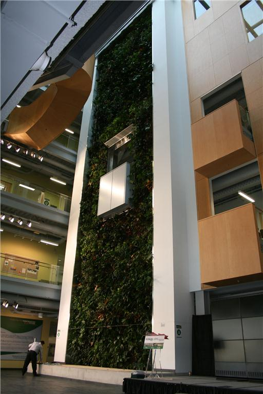 The ACCE building has a variety of green features, including a five-storey biowall. Photo by Andrew Snook.