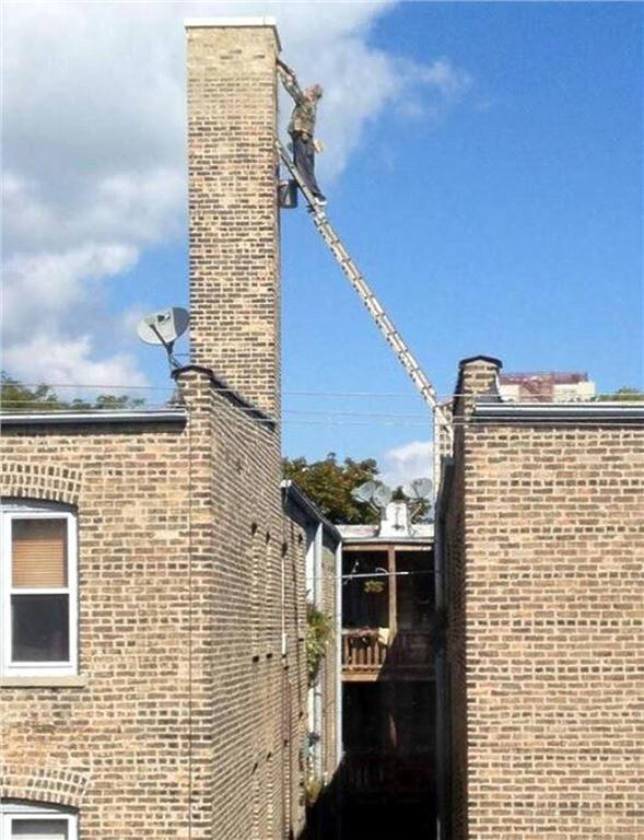The Ladder Association, the U.K.-based trade body responsible for advancing safety and best practice in the ladder industry, started a competition on Sept. 1, 2012, to raise awareness of unsafe ladder practices. Image provided by The Ladder Association.
