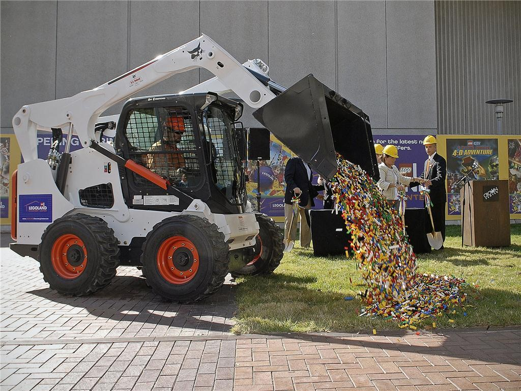 To mark the groundbreaking of LEGOLAND Discovery Centre Toronto, 50,000 LEGO bricks were dumped on the ground. The $12 million, 34,000-sq.-ft. centre is expected to open in the spring of 2013. Image courtesy of LEGOLAND Discovery Centre.