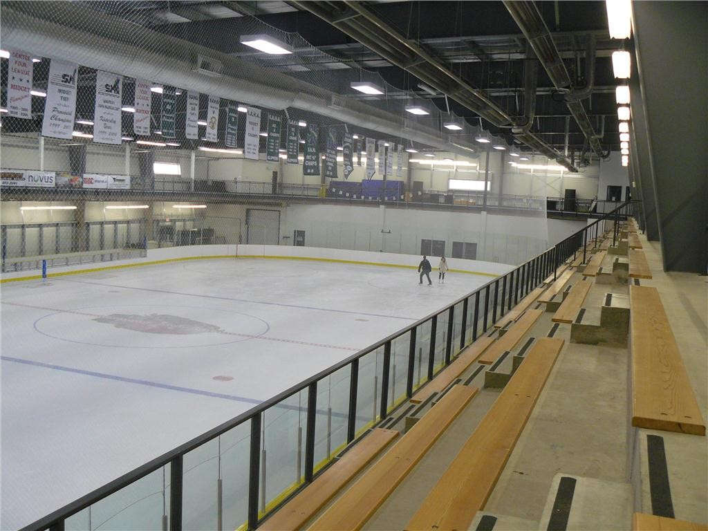 The facility's current features include a full-size ice surface built to Hockey Canada specifications. Photo courtesy of the Town of Kindersley.