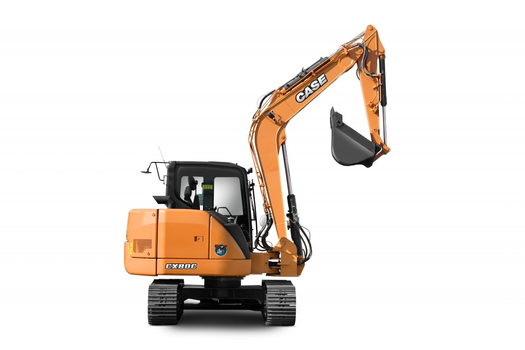 Case CE's CX75C SR and CX80C, Tier 4 Final mid-size crawler excavators are designed for customers in the excavation, sewer and water, residential and commercial construction sectors.