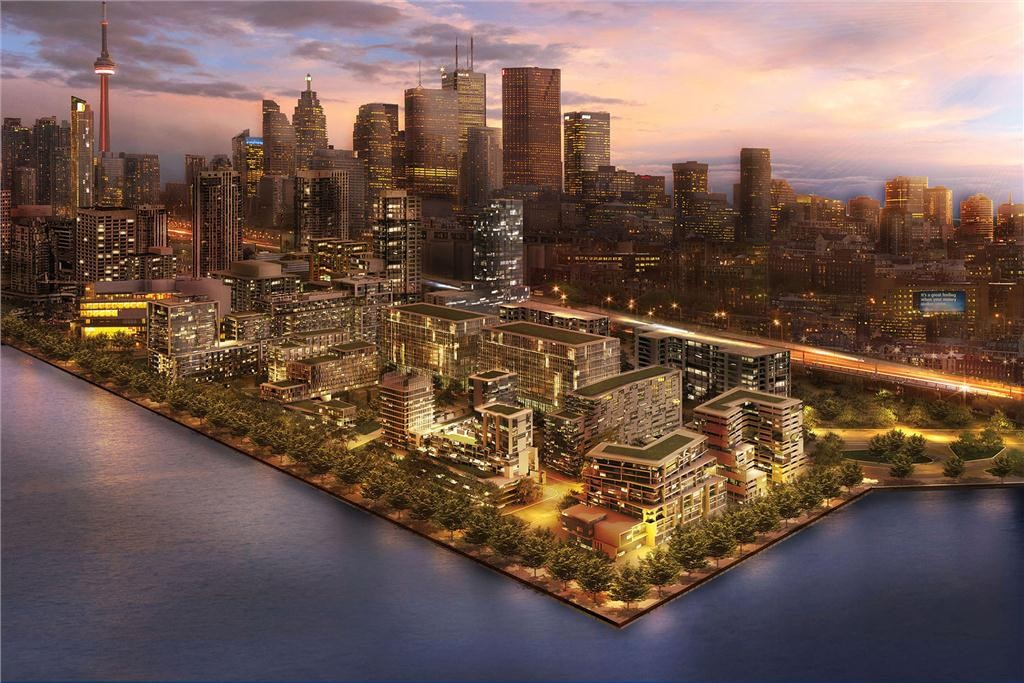 Aqualina at Bayside Rendering - Aerial View (CNW Group/Tridel)