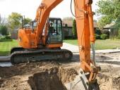 Doosan's DX140LCR-3 excavator
