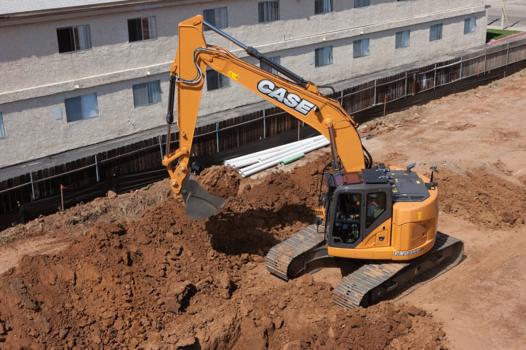 CASE's new minimum-swing radius excavators