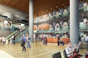 Rendering of proposed Queen St. lobby