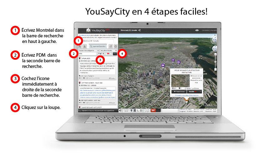 YouSayCity in 4 easy steps (CNW Group/Office de consultation publique de Montral.