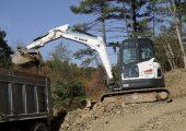 Bobcats E63 Compact Tail Swing excavator
