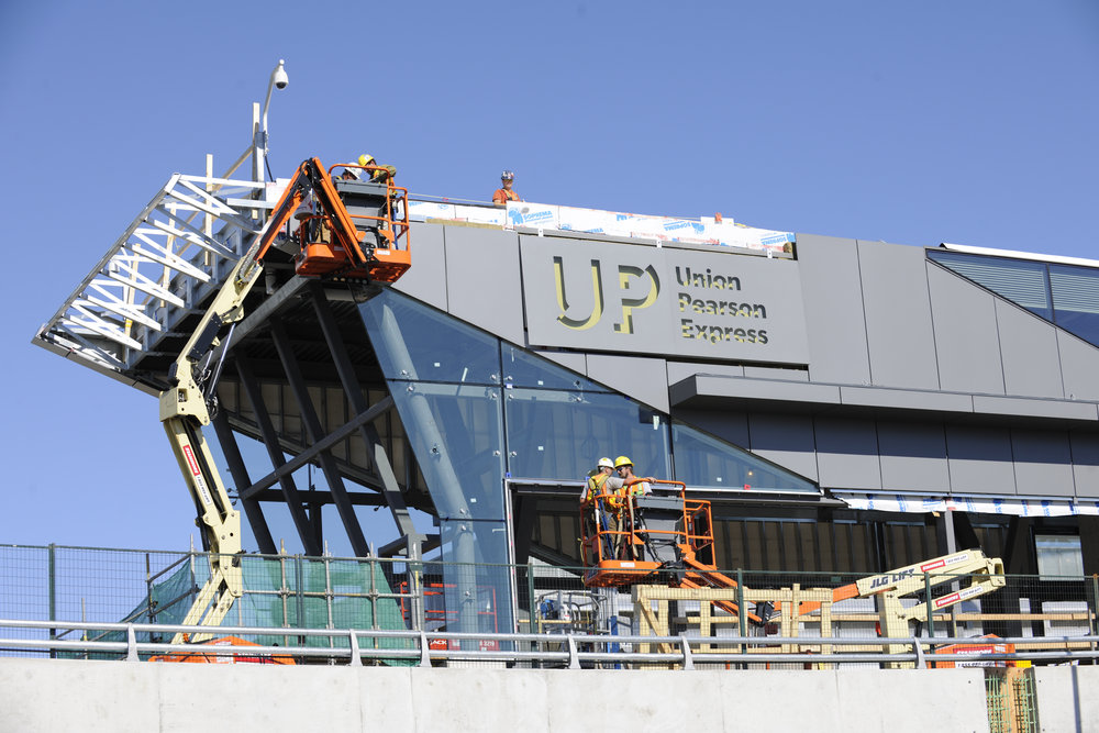 The UP Express station at Pearson Airport's Terminal 1 is now 75 per cent complete.
