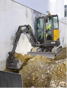 Volvo's ECR25D compact excavator.
