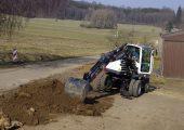 Terexs TW85 wheeled excavator.