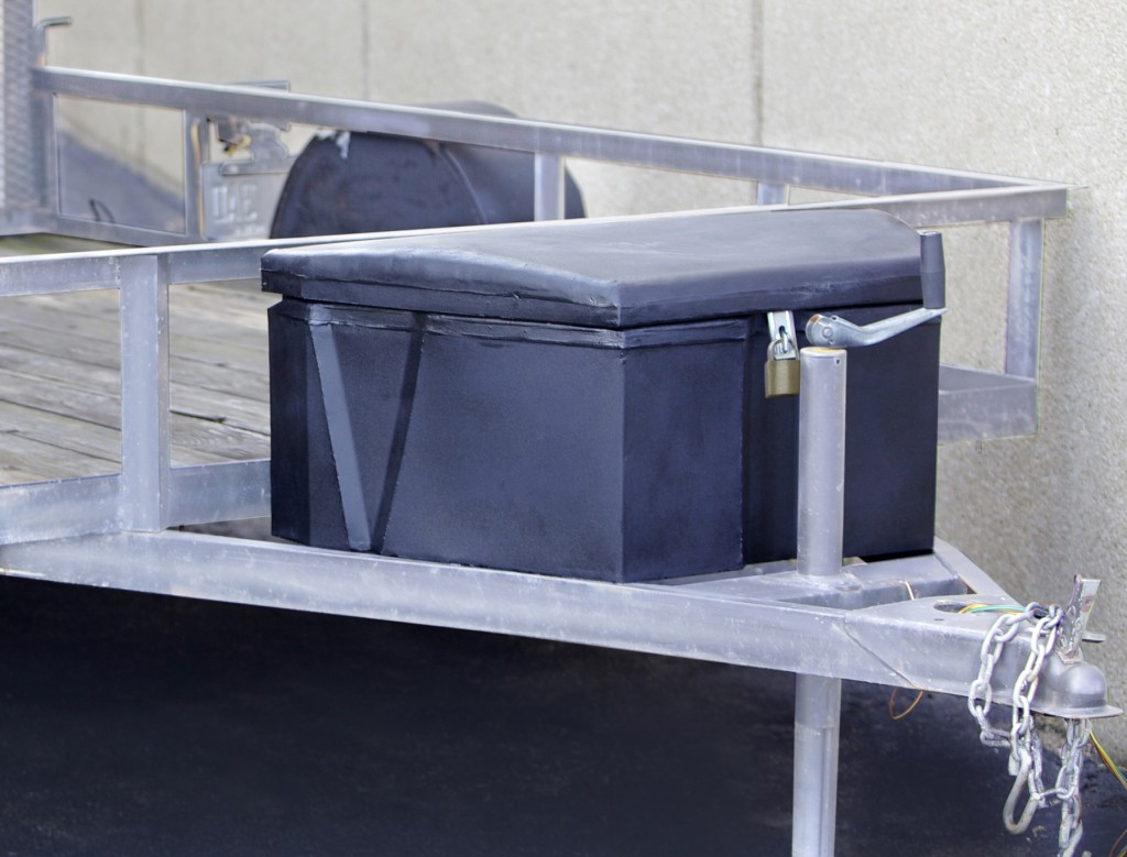 Durable trailer tongue boxes.