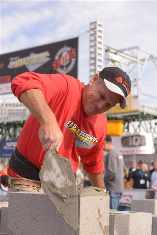 World of Concrete featured many competitions such as MCAA's Fastest Trowel on the Block & International Masonry Skills Challenge.