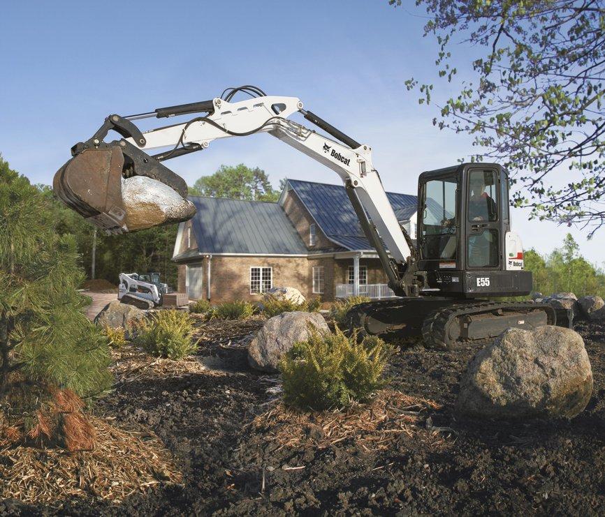 Bobcat Company's new E55  excavator.