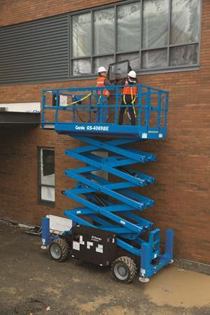 The Genie BE69 scissor lift series from Terex.