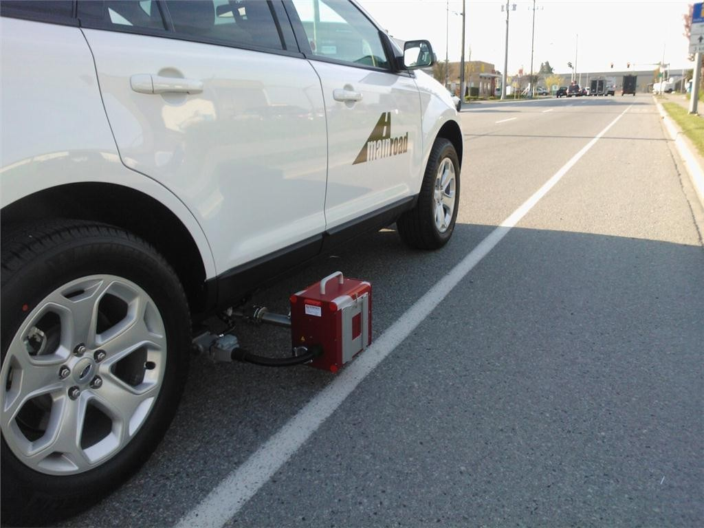 The ZDR 6020 Dynamic Retroreflectometer attaches to a vehicle, allowing the operator to gather continuous pavement marking retroreflectivity measurements while driving.