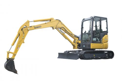 Kobelco's SK55SRx mini excavator.