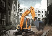 Nimble excavator for tight spaces