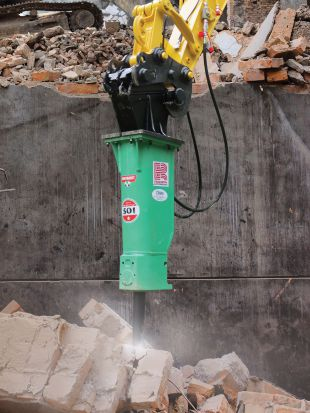 The Montabert 501 next generation hydraulic breaker.