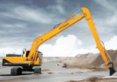 The R220LC-9A excavator by Hyundai.