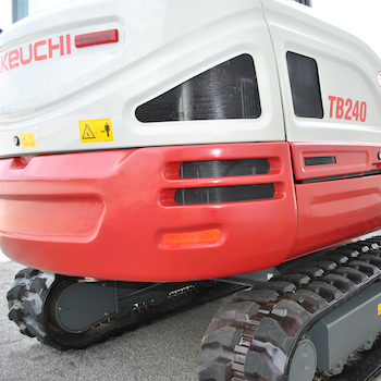 TB230 from Takeuchi-US is characterized by its sleek redesigned exterior.