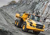Volvos A30G articulated hauler.