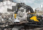 Volvo's EC250E excavator.