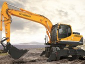 Hyundai Construction Equipment Americas' R180W-9A excavator.