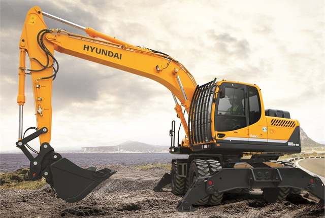 Hyundai Construction Equipment Americas' R180W-9A excavator.