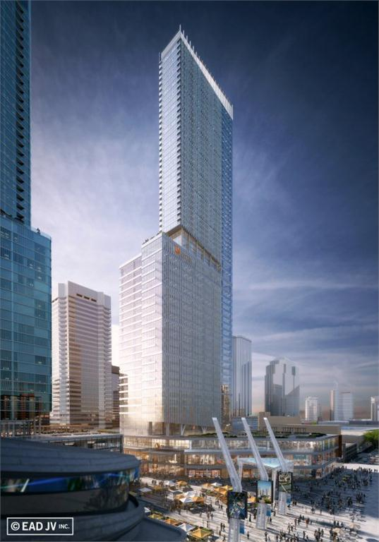Edmonton's tallest tower will stand 62 storeys and be designed to LEED gold standards. It is expected to open in the summer of 2018.