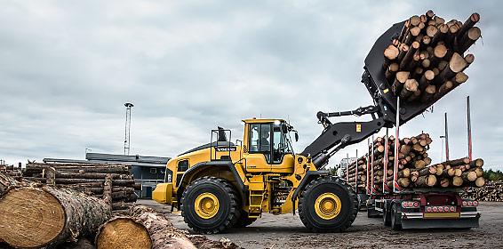 Volvo Construction Equipment's L220H wheel loader.