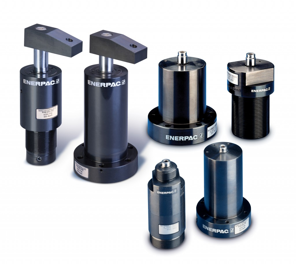 Enerpac's Collet-Lok family of hydraulic workholdings.