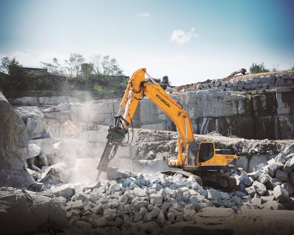 Hyundai Construction Equipment Americas' hydraulic breakers.