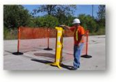 Temporary fencing by Rapid Roll Inc.