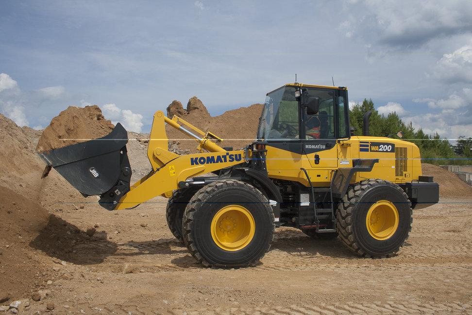 Komatsu America Corp.s WA200-7 wheel loader.