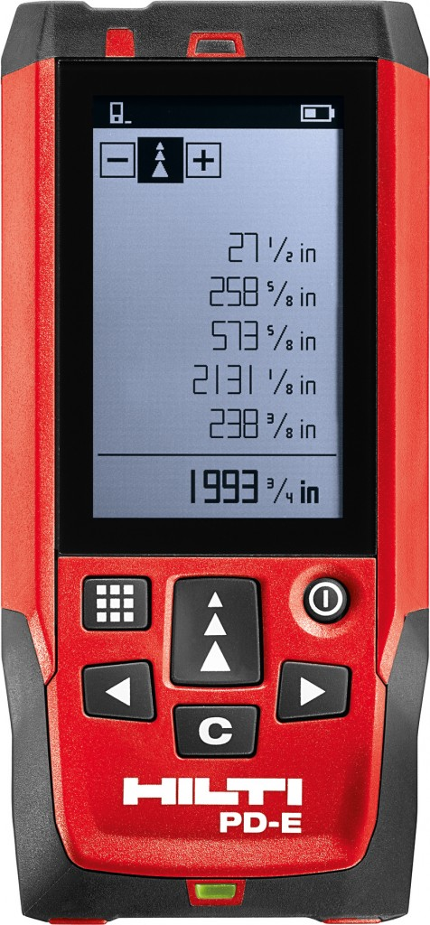 Hilti's PD-E laser range meter.