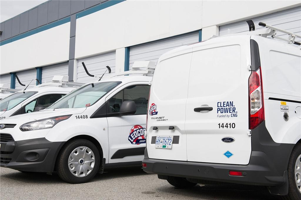 Ledcor now owns one of Canada's largest compressed natural gas vehicle fleets. (CNW Group/Ledcor Industries).