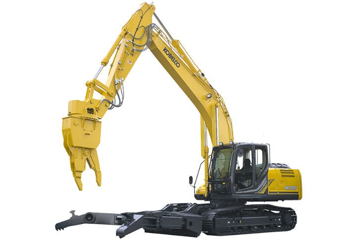 Kobelco's SK210D multi-dismantling machine.