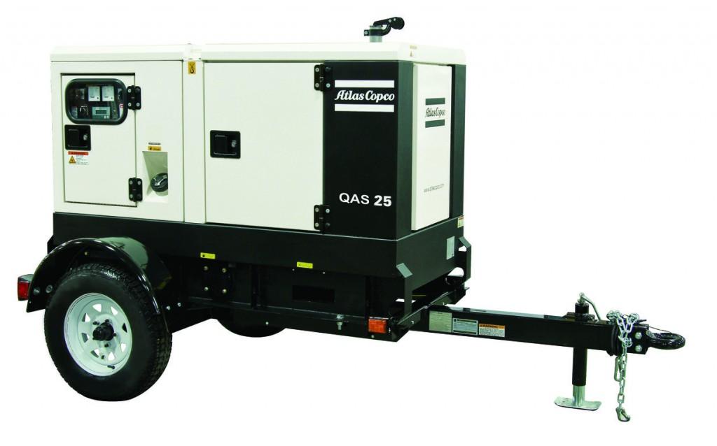 The QAS 25 generator from Atlas Copco.