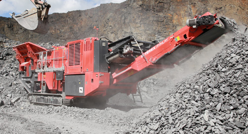Terex Finlay's J-1175 jaw crusher.