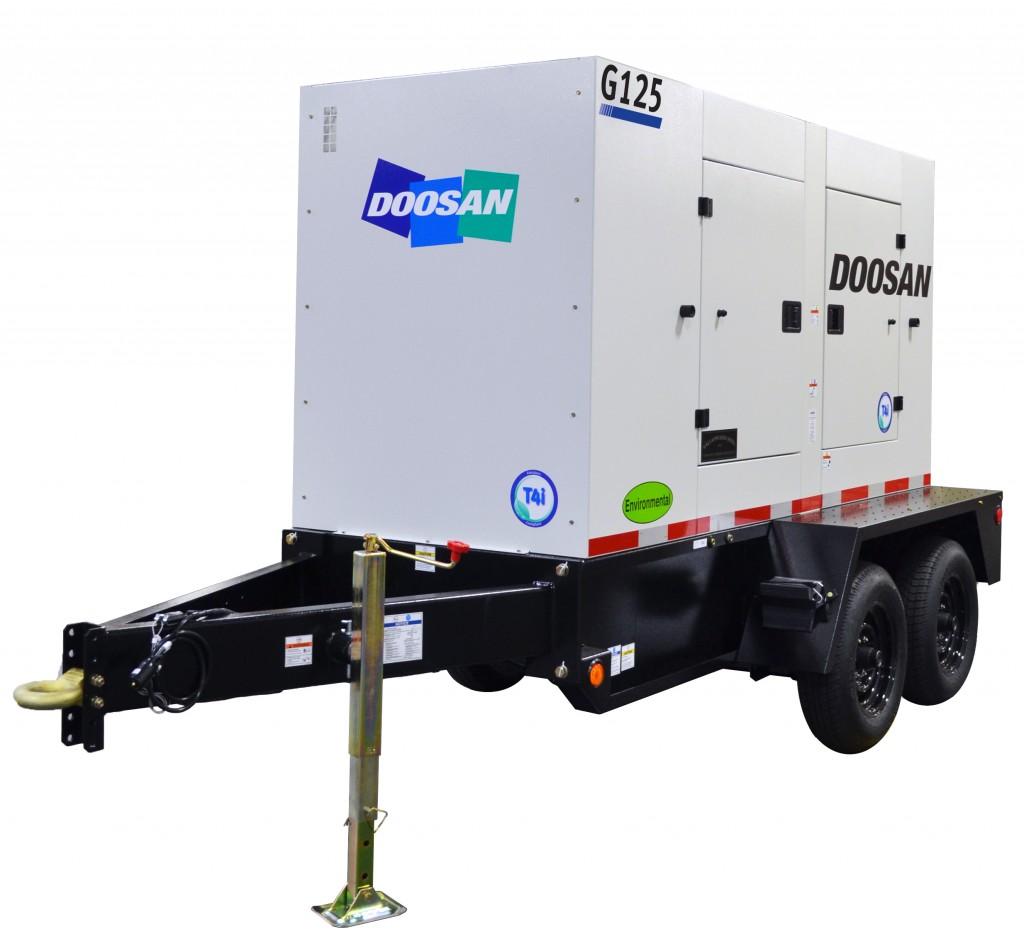 Doosan Portable Powers G125WCU mobile generator.
