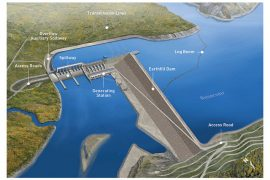 Rendering of the built-out Site C project