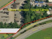 Overview of the site to be transformed into the Hamilton Transit Centre in Richmond, BC
